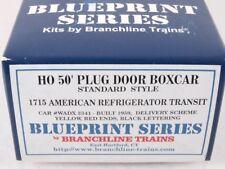 Branchline 1715 HO 50' Plug Door Boxcar Kit American Refrigerator Transit #3341