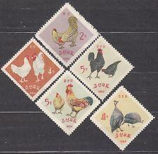 KOREA 1964 mint(*) SC#527/31 set, Poultry.