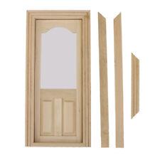 1:12 scale Interal Holztür und Rahmen-Miniatur-Puppenhaus-DIY