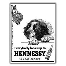 HENNESSY COGNAC BRANDY METAL SIGN WALL PLAQUE Vintage Advert Bar decor print