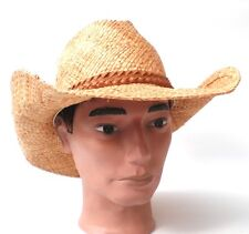 Cowboy hat Straw UNISEX Natural Raffia hats Holiday See