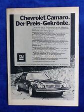 Chevrolet Camaro-ANNONCE PUBLICITAIRE Publicité publications 1973 __ (823