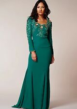 Dress 10 BNWT Virgos Lounge ASOS Embellished Green Maxi Wedding Prom Occassion