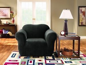 1 Seater Surefit Stretch Pearson | Couch Lounge Sofa Cover | Slipcover | Ebony