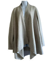 MODERN RARITY Lagenlook Coatigan Unlined Wool Mix Jacket Cardigan Beige 12/14 M