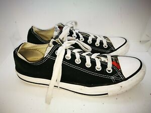 Converse black minnie mouse casual trainers size 6