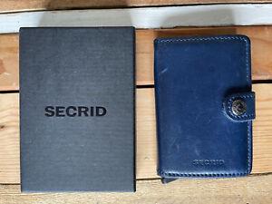 Secrid Blue Leather Mini Wallet RRP: £55
