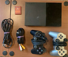BUNDLE:: SONY PLAYSTATION 2 PS2 SLIM TESTED; 2 Controllers; Memory Card 90001