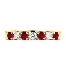 Anillos de joyería con gemas naturales aniversario de rubí