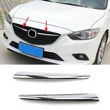 For Mazda 6 GJ 14-15 Chrome Front Center Mesh Grille Cover Trim Radiator Strips
