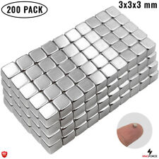 200pcs Strong 3x3x3mm Rare Earth Neodymium N35 Cube Small Diy Magnets For Office