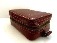 Vintage Hickok Leather Toiletry Travel Case Vagabond USA