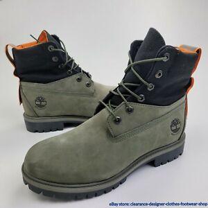 Timberland 6 Inch Premium Waterproof Boot ReBOTL Mens Nubuck Green UK 7 RRP £170
