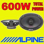 """ALPINE 6""""x9"""" 6x9 600W 2-way SPG car rear deck oval shelf speakers brand new pair"""