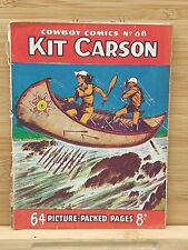 Kit Carson UK Comic 1950s-Cowboy Comics Library/Picture Library #68