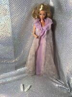Gorgeous Vintage Tnt Barbie Pink Negligee Beautiful Face HTF Excellent CURLS