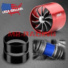 "Mi2KA Turbine Air Intake Fuel Gas Saver Single Fan System Turbo 2.5""-3.0"" Red"