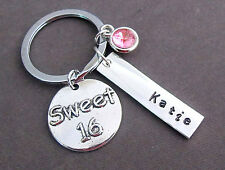 Personalized Sweet 16 Keychain,Sweet 16 Gift,Sweet sixteen birthday gift jewelry