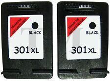 Remanufactured 301XL Twin Pack Black Ink fits HP Deskjet Printers