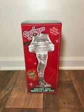 A Christmas Story Leg Lamp 18oz. Collector's Series Molded Glass Nib