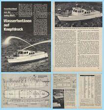 Bauplan ferngesteuertes Feuerlöschboot - Original von 1969