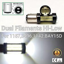 Front Signal Park Light 1157 2057 3496 7528 BAY15D 108 6K White LED Bulb M1 MA