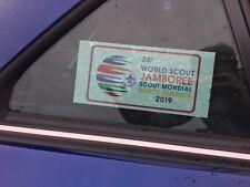24th World Scout Jamboree 2019 - Car Window Sticker - New