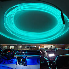 Car 6.5ft Panel Gap Ice Blue Decorative Atmosphere LED Cold EL Neon Lights Strip