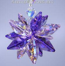 m/w Swarovski Crystal Purple and Ab Pink Star Sun Catcher Lilli Heart Designs