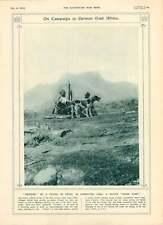 1916 AFRICA ORIENTALE TRUPPE Native PUNTO FISSO Sentinella CAVALLERIA ispezionato King George