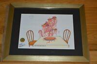 """Friz Freleng Autographed """"Pink Panther"""" LE Serigraph Cel Custom Framed ~ PA COA"""