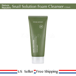 Nature Republic Snail Solution Foam Cleanser 150ml + Free Random Sample [ US ]