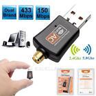 600Mbps Dual Band 5GHz Wireless Lan USB PC WiFi Adapter w/ Antenna 802.11AC