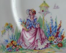 "Vintage / Art Deco Early Colclough Lady Bone China Tea Set 10"" Cake Plate"