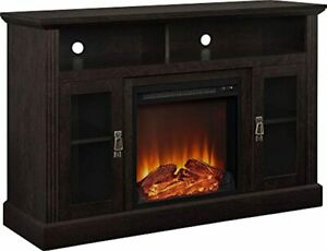 """Ameriwood Home Chicago Electric Fireplace TV Console for TVs up to a 50"""", Espres"""