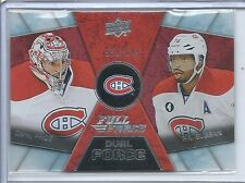 2015-16 UPPER DECK FULL FORCE DUAL CAREY PRICE P.K. SUBBAN /649 # DF-8 HABS