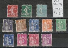 FRANCE 1938-1941 N° 404-416A NEUF ** COTE 20 €
