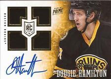 DOUGIE HAMILTON 2013-14 Panini Prime Autograph Rookie Jersey #195/199 Bruins RC