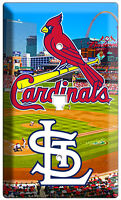 ST LOUIS CARDINALS BASEBALL TEAM PHONE TELEPHONE WALL PLATE COVER ROOM ART DECOR