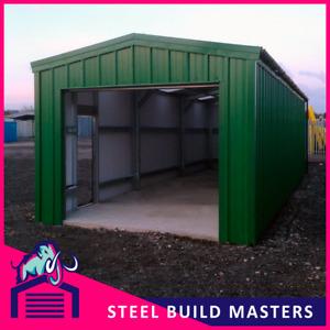 WORKSHOP/STORAGE BUILDING BY STEEL BUILD MASTERS (3.6m W x 9m L x 3m H)