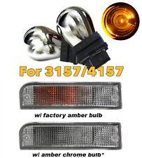 Stealth Chrome Bulb T25 3157 3057 4157 Amber Rear Turn Signal Light for Cadillac