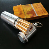 Portable Water Proof Metal Male Cigarette Case Capsule  / Femel Cigarette Boxer