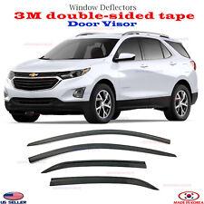 3M Tape SMOKED DOOR VISOR WINDOW VENT DEFLECTOR fits for Chevy Equinox 2018-2020