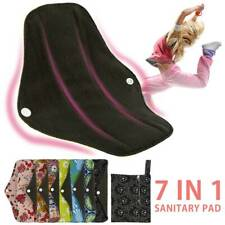 7X Asenappy Reusable Menstrual Pads Cloth Charcoal Bamboo Sanitary Panty Liners