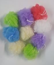 6 x Bath Sponges Shower Nylon Mesh Scrubber Exfoliating Body Massage Scrub NEW
