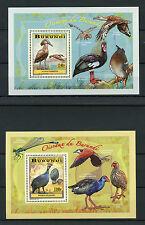 Burundi 2014 MNH Birds of Burundi Wading Birds 4x Deluxe S/S Cranes Ibis