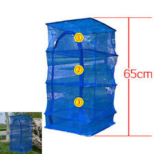 Outdoor Hanging Drying Tableware Dry Net 3 Layer Shelf Hang Cage Fish Rack JR
