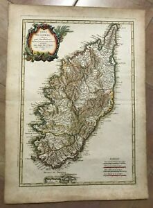 CORSICA FRANCE 1783 by Jean LATTRE VERY UNUSUAL LARGE ANTIQUE MAP 18TH CENTURY