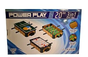 """Powerplay table top mini games 3 in 1 stack: football table tennis & hockey 20"""""""