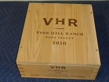 """Vine Hill Ranch Winery VHR Napa Wine Crate holds 3 btt size 5""""x12""""x13"""""""